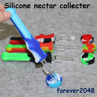 DHL free Nectar Collector with Titanium Tip Dab Straw Oil Ri...