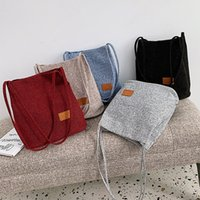 US Stock Women' s Shoulder Bags Fashion Linen Sleek Larg...