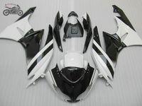 Volledige kuilen Body Kits voor Kawasaki ZX6R 2009 2010 2011 2012 White Black Chinese Backings Kits ZX 6R ZX636 09-12