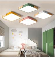 Oturma odası yatak odası LED tavan lambası Basit modern yonca sıcak oturma odası aydınlatma restoran çalışması dikdörtgen lamba
