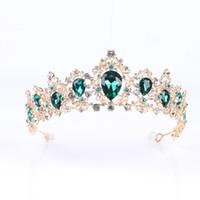 2020 Ювелирные изделия Новые барокко хрустальные короны и тиары Rhinestone Люкс Свадебные Hairband Женщины Pageant Пром Аксессуары для волос