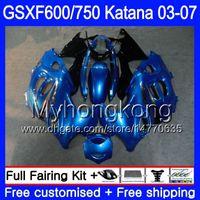 GSX600F för SUZUKI GSXF 600 750 GSXF600 2003 2004 2005 2006 2007 293HM.34 GSXF-750 Lager Blue Frame Katana GSXF750 03 04 05 06 07 Fairings