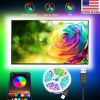 Retroilluminazione a LED TV 9.8ft LED Strip Lights with Bluetooth App Control per TV 46-60 pollici TV 16 milioni di colori Adattatore MIC sensibile USB Powered