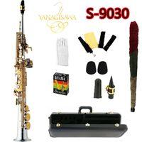 Case ve Aksesuarları ile Top Yanagisawa S-9030 B Ton Soprano Saksafon Nikel Kaplama Altın Anahtar Profesyonel Sax Ağızlık