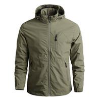 La chaqueta de bombardero de los hombres táctico impermeable chaquetas con capucha abrigos hombres deportes al aire libre de secado rápido chaqueta ligera capa 5XL