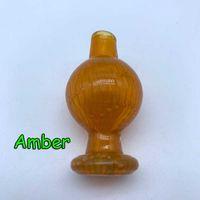 Универсальный США цвет стекла пузырь Dab карбюратор крышка с направленным прямым отверстием 25 мм OD стекла карбюратор крышки для плоской верхней кварцевые сосиски ногти