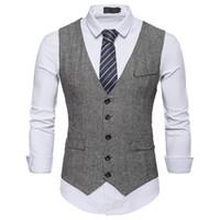 Chaleco de traje de alta calidad de los hombres formales de negocios casual slim fit desgaste del novio de la boda chaleco elegante smoking chalecos para hombre 1 #