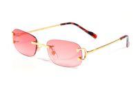 Chifre de búfalo sem aro Plain Óculos Ouro Chitas óculos de sol extravagantes Moda Classic Optical Oculus Squar retangular Eyeware Retro