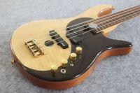 Редкие Yin Yang Natural 4 String Electric Bass Guitar Alder Body EMG Пикапы Золотая Аппаратная Диаграмма Вселенной Китай сделала Siganture Bass