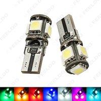 도매 50PCS 웨지 T10 / W5W / 168분의 194 5050 5SMD 5LED NO 오류 CANBUS 자동차 LED 전구 문 빛 7 색 # 2640