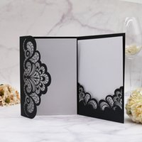 Wedding Celebration Invitation Cards Hollow Lace Laser Cut F...