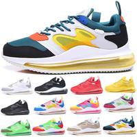 Nuevo 720 Running Shoes completa acolchados mujeres de los hombres de neón Triple Negro de carbono gris plata metálico 72C Chaussures zapatillas de deporte 36-45