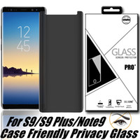 케이스 친화적 인 개인 정보 강화 유리 3D 삼성 갤럭시 S10E S10 Plus S9 노트 9 8 S8 Plus Note 10 PlusWith 소매 패키지