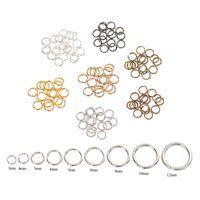 200 unids / lote 4 5 6 8 10 mm anillos de salto de plata anillos de plata de los conectores para los hallazgos de la joyería de bricolaje que hacen accesorios componentes al por mayor suministros