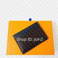 M60166 Neo Porte Cartes Designer Mens Unisex Mini Chaveiro Card Card Titular Bolsa CLE CLE CLICETE ACESSOIRES O organizador de bolso Capa de passaporte