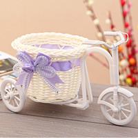 Decorazione dell'ufficio del rattan del triciclo bici cestino del fiore Vaso bagagli Giardino festa di nozze da letto regalo della caramella della holding