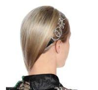 Nuevo diseñador de banda completa de pelo Rhinestone Carta de las vendas de Bling Bling del alfabeto Satin Hair Accesorios tocado de la novia