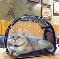 Gato plegable transparente Paquete Mochila animal doméstico del gato del perro universal de viaje fuera la bolsa del paquete de viaje transparente y transpirable Cat Box