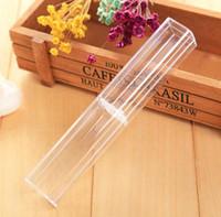 크리스탈 펜에 대 한 선물 펜 투명 상자 케이스 볼펜 만년필 펜 연필 프로모션 소매 상자 패키지 패키지 SN169