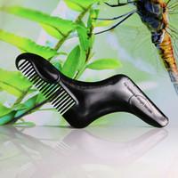 2019 Guía talladora nuevos hombres Barba Shaping plantilla de la plantilla peine del pelo de la barba Styling Peines Recorte para la herramienta de la belleza facial de afeitar