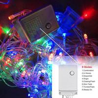 DHL Рождественский светлый праздник открытый 10 м 100 светодиодная строка 8 цветов Выбор красный / зеленый / RGB Fairy Lights водонепроницаемый рождественский сад