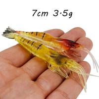 20pcs / lot 7 centimetri 3.5g del gambero del silicone di pesca richiamo morbido Esche Esche esche artificiali Pesca Attrezzatura di pesca Accessori SF_40