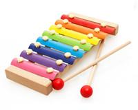 어린이 나무 옥타브 손 노크 피아노 조기 교육 아기 퍼즐 뮤지컬 장난감 1-2-3 년 나무 노크 피아노