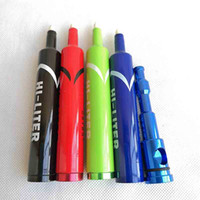 Najnowszy Marker Hi Litr Dipes Długopis Metalowa łyżka Ziołowa tytoń Papieros Filtr Rąk Rury Oil 4 Kolory Narzędzia Palenie Akcesoria Akcesoria