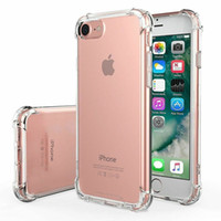 iPhone 6 Plus Temizle Şeffaf Darbeye Koruyucu Kılıflar Kapak TPU PC Silikon Hibrid Sağlam Telefon Shell için Iphone 6s Plus için