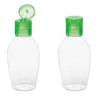 BOTTIGLIA DI SANITIZZATORE DI SANITIZZATORE DI 50ML Vuoto Lavaggio a mano Vuoto Bottiglie di plastica dell'animale domestico della bottiglia di plastica per disinfettante con il cappuccio della flip verde bianco