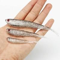 7.5cm 10cm 13cm Señuelos Glow Soft pesca de los señuelos de pesca juego suave cebos caníbal suaves Señuelos Shads pesca pescados Swimbait Crankbait