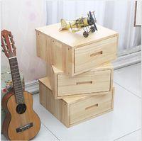 Armário de cabeceira de madeira maciça Mobiliário de quarto único gaveta americana armários americanos Multi-balde pinheiro mesa