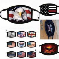 2020 Destekçi Trump Yüz Mascherine Amerika Bayrağı Baskılı Ağız Maskesi E19 8NB Başkanı Seçim Toz Maskesi İçin Spor Bisiklet 1 Maske