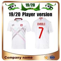 2020 유럽 스위스 플레이어 버전 축구 유니폼 19/20 Anim Akanji Zakaria Rodriguez elvedi 축구 셔츠 국립 팀 축구 유니폼