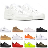 Nike Air Force 1 Mens Casual Sneakers Skateboard Chaussures Low dunk Black White Utility Red Flax Womens outdoor Mens Trainer Sports Shoe