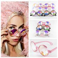 Çocuklar Kaleidoscope Güneş Retro Geometrik Gökkuşağı Mercek Sunglass Moda Şenlikli Parti Gözlük Erkek kız favori gözlük FFA3600-1 soğutmak