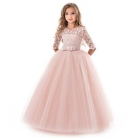 Summer Girl Lace Dress Long Tulle Teen Girl Party Dress Eleg...