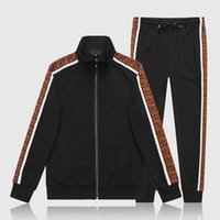 FF Designers Tracksuit Men Luxury Sweat Suits Autumn Brand Mens Jogger Trajes Chaqueta + Pantalones Sets Sporting Traje Hip Hop Establece Alta Calidad