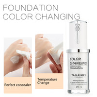 TLM Foundation 40ml Farbwechsel Flüssige Foundation Basis Kosmetik Primer Teint Creme Concealer Make-up Abdeckung