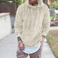Новые мужские зимние теплые толстовки из искусственного меха мужчины сплошной балахон хип-хоп с капюшоном топы пуловер мужской повседневная спортивная одежда мужские топы