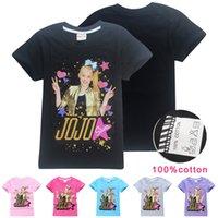JOJO SIWA Çocuklar T-Shirt 6 Renkler 4-12 Yaşında Kızlar 100% Pamuk Tee Gömlek Kısa Kollu Tişörtleri Çocuk Tasarımcı Giysileri SS103
