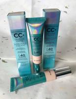 EM ESTOQUE !! Hotsale Maquiagem CC + Creme Sem Óleo Fosco 32 ml Poreless Acabamento COBERTO Completa Fundação DHL grátis