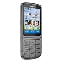 "Nokia C3-01 Mobile Phone Single Core Support 3G WIFI Bluetooth 5MP 2.4"" Touch Screen"