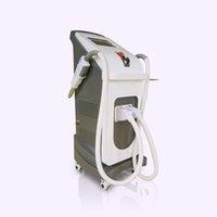 Оптовая цена для ND YAG-лазерных и вертикальных двух ручек IPL Opt Лазерное удаление волос IPL машина