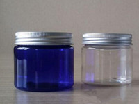50g 50ml plastic container jar clear blue green color with b...