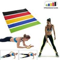 5 adet / grup Direnç Bantları Set Çekin Halat Seviyeleri Lateks Egzersiz Ekipmanları Gücü Fitness Kauçuk Vücut Geliştirme Egzersiz Bandı GH167