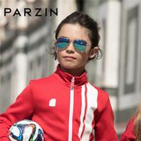 PARZIN Pilot polarizados crianças Óculos de sol Marca Crianças real Anti-UV400 Óculos Para CoolBaby Piloto Sunglass Alta Qualidade 9769