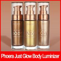 PHOERA maquillaje facial Sólo resplandor Cuerpo Luminizer bronceador líquido de resaltado posición de difusor aclaran resplandor de oro rosa Resalte aclaran 30ml