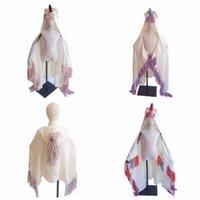 الأزياء يونيكورن غطاء مقنع للبنات لبس الكروشيه حك رمي ماجيك قلنسوة عباءة قبعة الرأس يونيكورن ZZA833