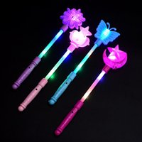 Light Up Sticks Magic LED Wands DJ Fairytale Princess Costume Fancy Dress Glow Star Crown Gift ZHL3918